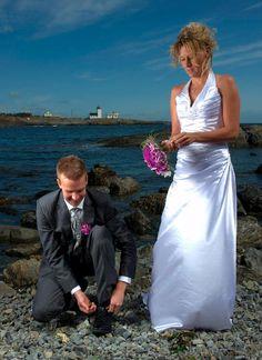 Hvorfor ikke ha et brudebilde som fanger et slikt øyeblikk? Litt kult egentlig!