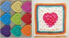 How To Crochet Granny Heart Square - Free Pattern