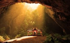 Temple inside Phraya Nakhon cave, Thailand Click link for TONS of the best cave pics! http://onebigphoto.com/most-amazing-caves-around-the-planet/