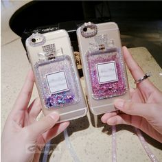 Bling luxury perfume bottle Quicksand Dynamic Liquid Glitter Silicone Cover For iPhone 6s case 5 5s se 6s Plus Phone shell coque