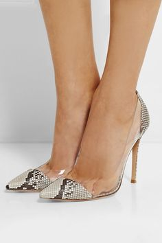 Gianvito Rossi | Python and PVC pumps | NET-A-PORTER.COM