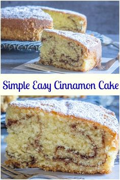 Simple Easy Cinnamon Cake, a soft, delicious and moist Cake Recipe.  Perfect for snack, dessert or even Breakfast.  Everyone will love it. via @https://it.pinterest.com/Italianinkitchn/