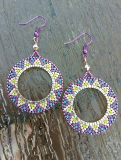 Check out this item in my Etsy shop https://www.etsy.com/listing/238584588/native-american-style-earrings-purple