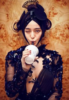 "Fan Bingbing wearing Gucci and photographed by Chen Man for i-D ""The Role Model Issue""  Fall 2012"