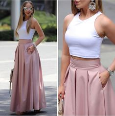 Ankle-Length Sleeveless Round Neck Dresses, Shop plus-sized prom dresses for curvy figures and plus-size party dresses. Ball gowns for prom in plus sizes and short plus-sized prom dresses for Best Casual Outfits, Classy Outfits, Chic Outfits, Look Fashion, Girl Fashion, Fashion Dresses, Friends Fashion, Fasion, Fashion Fashion