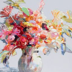 Welcome to the Downtown Charleston fine art gallery of Atelier Gallery, located on King Street in the heart of historic downtown Charleston, South Carolina. Abstract Flowers, Watercolor Flowers, Watercolor Art, Guache, Arte Floral, Art Design, Fine Art Gallery, New Art, Flower Art
