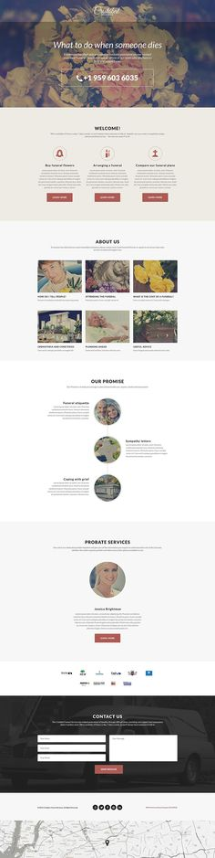 Funeral Services Responsive Landing Page Template #55577