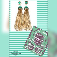 Shimmer & sparkle with our 'Nepra Enamel Tassel Earrings'. Get them before someone else does! Shop now: www.theglocaltrunk.com #theglocaltrunk #tgt #costumejewellery #earrings #stylistpick #onlinestore #tuesdaytassels #tgt #buyitnow