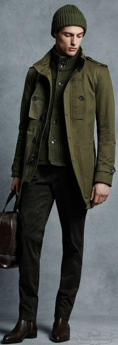 Military Menswear Trend Fall 2015 | Men's Fashion | Menswear | Men's Casual Style | Moda Masculina | Shop at designerclothingfans.com