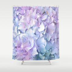 Soft Pastel Hydrangea Shower Curtain by Judy Palkimas - $68.00