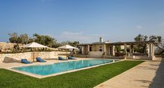 Masseria Pino Marittimo Puglia Sleeps This magnificent luxury villa in Puglia is superbly comfortable and with a fabulous pool area with children's games room and kitchen. Villa Holidays, Luxury Villa, Villas, Game Room, Pools, Celebrations, Relax, Italy, Mansions