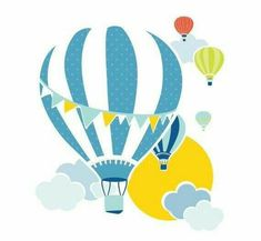 Items similar to Hot Air Balloon Baby Name Nursery Art /// Giclee Print /// Custom Color /// Kid's Bedroom Art /// Newborn Gift on Etsy – Baby Shower Party