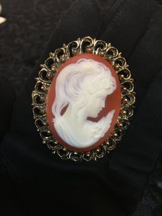 1940's Carved Shell Cameo Vintage Authentic by RetrosaurusRex