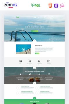 Premium landing page HTML template for a pool design website that will work on any type of devices. Landing Page Html, Landing Page Examples, Best Landing Pages, Landing Page Design, Html Templates, Page Template, Dream Pools, Pool Designs, Dreaming Of You