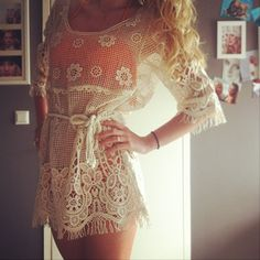 Swim Suit Cover Up. Repin & Follow my pins for a FOLLOWBACK!