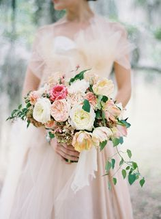Blush Peach Bouquet | photography by http://josevillablog.com/ | floral design by http://www.southern-blooms.com/