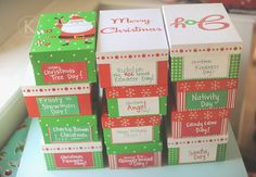 LOVE this--for my Christmas theme days :) @Katherine Adams Marie did 12 boxes for 12 days of Christmas fun. #Christmas
