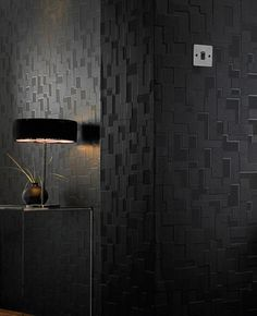 For the bar? Checker: Black Wallpaper from www.grahambrown.com