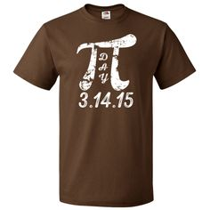 Pi Day math geek T-Shirt says 3.14.15 for the special Pi Day celebration in 2015. Grunge look Pi symbol, perfect for a math teacher, math students, math nerd. $18.99 www.personalizedteachershirts.com