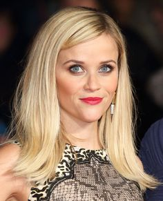 Holiday Makeup Ideas: Reese Witherspoon, Classic Red Lips #InStyle
