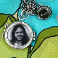 Neil Young and Eddie Vedder 2-sided locket