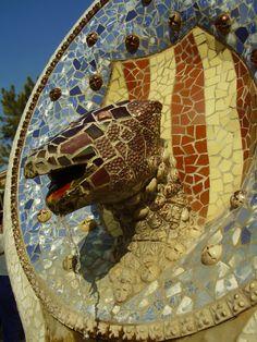 Park Güell Gaudi, Park, Animals, Animales, Animaux, Parks, Animal, Animais, Antoni Gaudi