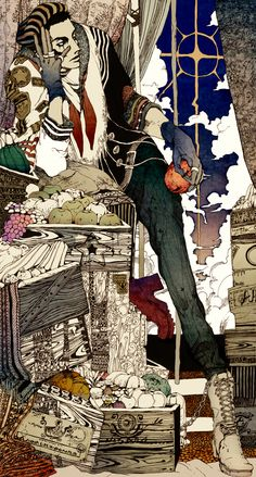 "Illustration by Japanese artist ""Flame"" (Akiya Kageichi)"