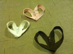 Zipper hearts for jewelry making ❤️❤️❤️