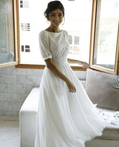 Modest Whispers-Modest wedding gowns - Studio Levana - Couture Wedding Gowns - - Modest wedding gowns 2016 tina Source by annkol Floral Wedding Gown, Modest Wedding Gowns, Couture Wedding Gowns, 2016 Wedding Dresses, Bridal Outfits, Modest Dresses, Designer Wedding Dresses, Pretty Dresses, Bridal Gowns