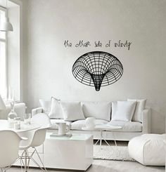 Science art Black hole vinyl wall decal, $35.00