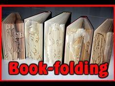 Tutorial - Book folding (Bücher falten) - YouTube