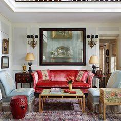 Elegant Chintz Living Room