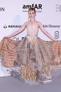 May 19 2016 Elle Fanning wore a Valentino Haute Couture gown. Haute Couture  Gowns, b339be95c54