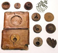 Rich Tudors had clocks in their homes. Most people relied on pocket sundials to tell the time.The majority of the Mary Rose sundials came with a simple flat lid that clipped onto the top of the sundial, which you can see on the right of the image