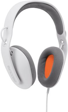 orange and white Headphone design concept | headphones & speakers . Kopfhörer & Lautsprecher . casque/écouteur & enceintes |