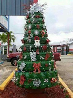 Tyre Christmas tree