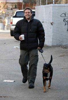 Jeffrey Dean Morgan,,, oh my Gosh, I neeeeeeeeedddddd ,,,,,, a coat like that . Just kidding , cute coat, handsome occupant ;)