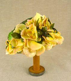 vintage Easter bonnets   Vintage Floral Tea Party Hat Easter Bonnet