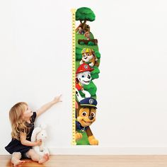 PAW Patrol™ Personalized Growth Chart Decals for kids bedroom walls and playrooms by OliversLabels on Etsy https://www.etsy.com/listing/387569028/paw-patrol-personalized-growth-chart