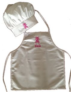 Personalized dance logo apron and chef hat set from growingcooks.com.  Available in toddler, kids, youth or adult size. #chefset #dance #chef #aprons #chefhats