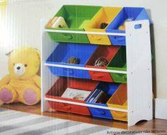 Guarda Porta Baú Brinquedos Organização Quarto Bebê Infantil