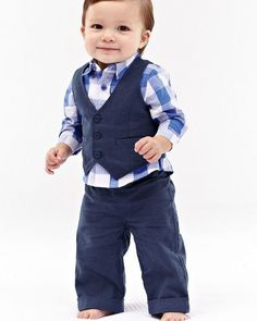 3 Pieces Plaid Boys Clothing Set Gentleman Style Cotton Boy Shirt and Vest and Pants Outfits Children's Clothing Baby Clothing Vest Outfits, Pants Outfit, Baby Boy Outfits, Outfit Sets, Kids Outfits, Baby Boy Suit, Baby Boys, Fabric Flower Headbands, Girls Crown
