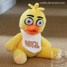 Five Nights At Freddy's Chica Plush by Roobbo on Etsy