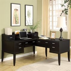 Wynwood Palisade L-shaped Desk With Hutch