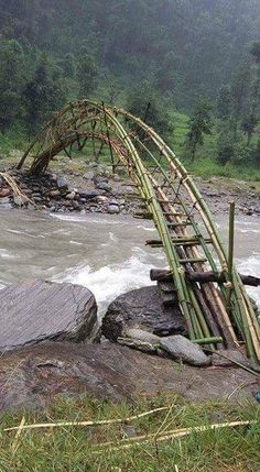 sıtkı All Nature / Bamboo bridge Would love to cross this someday Old Bridges, Bamboo Structure, Parks, Bamboo Architecture, Bridge Design, Pedestrian Bridge, Covered Bridges, Beautiful Landscapes, Beautiful Places