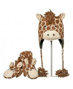 A może zwierzęcy komplet Geoff the Giraffe od Knit Wits?