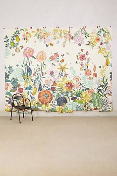 Great Meadow Mural - Anthropologie Wallpaper. Bonus Room, Play Room, Bedroom, Guest Room