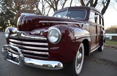1946 Ford Super Deluxe Woody Wagon - 3 - Print Image