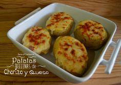 Ingredientes para 4 personas:     4 patatas.     100 gr. chorizo extra.     150 gr. de queso curado.     200 ml. de nata para cocinar. ...