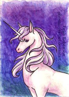 Unicorn ATC by phoenix-feather.deviantart.com on @deviantART